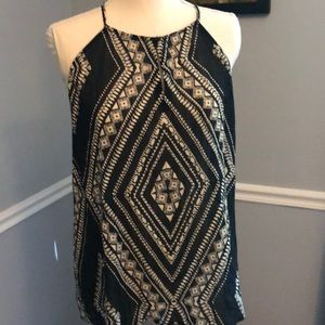 Black and Ivory Sheer Tank Top